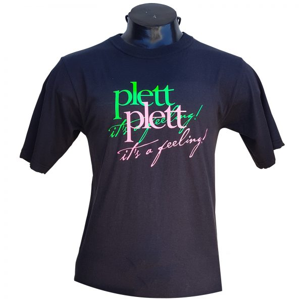 T-Shirt, Black, colour Plett it's a feeling
