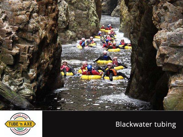 Plett High Five - black water tubing